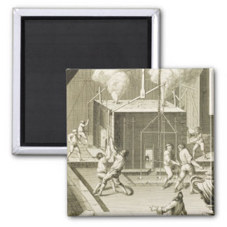 A sculptor's foundry, from the 'Encyclopedie des S 2 Inch Square Magnet