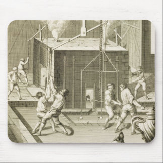 A sculptor's foundry, from the 'Encyclopedie des S Mouse Pad