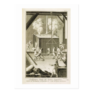 A sculptor's foundry, from the 'Encyclopedie des S Postcard