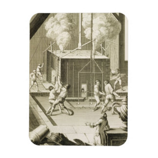 A sculptor's foundry, from the 'Encyclopedie des S Rectangular Photo Magnet