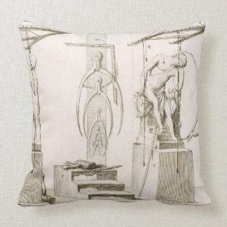 A Sculptor's Studio, c.1800 (engraving) Pillow