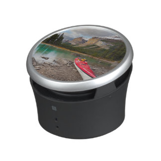 A sea kayak ashore at Spirit Island Bluetooth Speaker