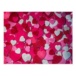 A Sea of Festive Hearts for Love Postcard