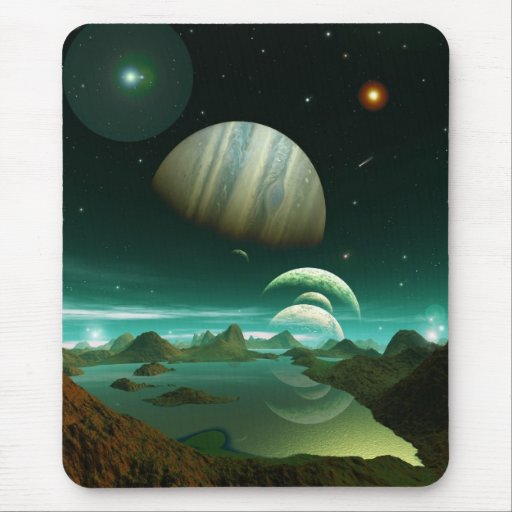 A Sea of Green Mouse Pad