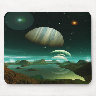 A Sea of Green Mouse Mats