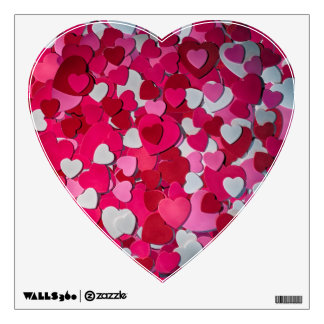 A Sea of Hearts for Love Wall Graphic