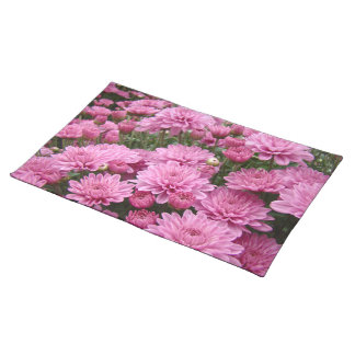 A Sea of Pink Chrysanthemums #2 Cloth Placemat
