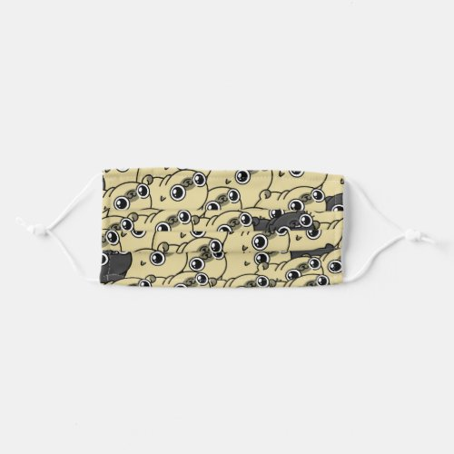 A sea of pugs mask