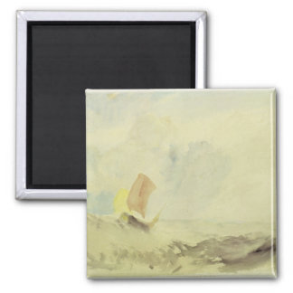 A Sea Piece - A Rough Sea with a Fishing Boat, 182 Magnet