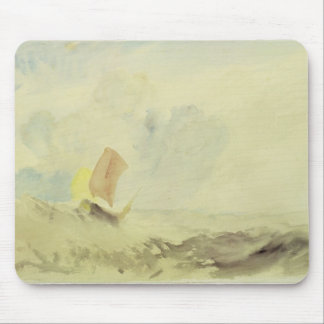 A Sea Piece - A Rough Sea with a Fishing Boat, 182 Mouse Pad