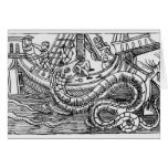 A Sea Serpent Greeting Cards