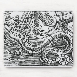 A Sea Serpent Mouse Pad