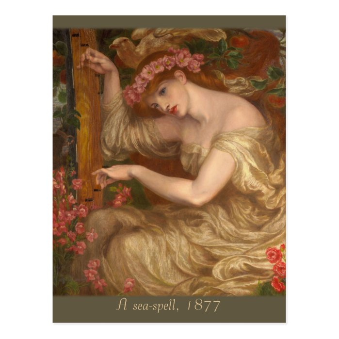 A sea-spell by Dante Gabriel Rossetti CC0574 Postcard