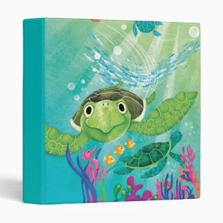 A Sea Turtle Rescue 3 Ring Binder