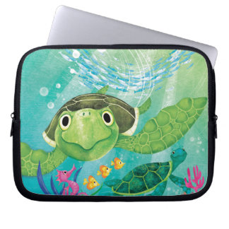 A Sea Turtle Rescue Computer Sleeve