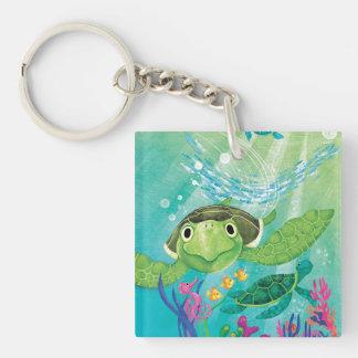 A Sea Turtle Rescue Keychain