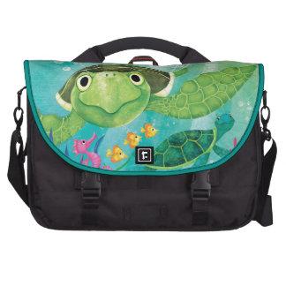 A Sea Turtle Rescue Laptop Messenger Bag