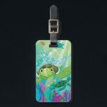 """A Sea Turtle Rescue Luggage Tag<br><div class=""""desc"""">Artist: Elisa Chavarri   A sea turtle underwater.</div>"""