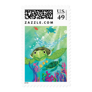 A Sea Turtle Rescue Postage Stamps