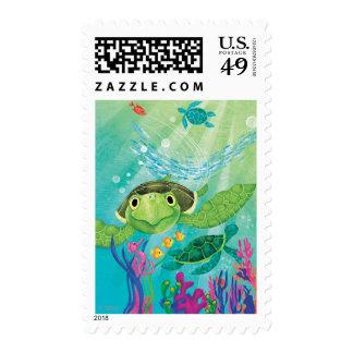 A Sea Turtle Rescue Postage