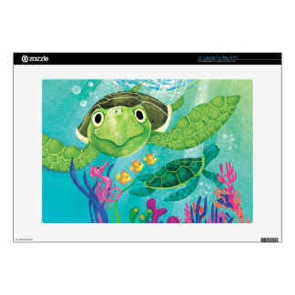 """A Sea Turtle Rescue Skin For 15"""" Laptop"""