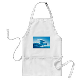 A sea with giant waves adult apron