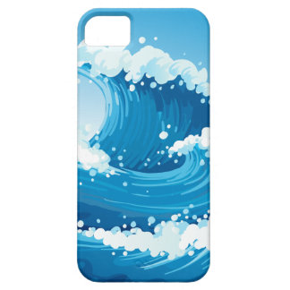 A sea with giant waves iPhone 5 case