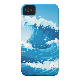 A sea with giant waves iPhone 4 Case-Mate case