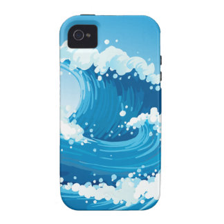 A sea with giant waves iPhone 4 cases