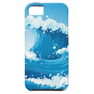 A sea with giant waves iPhone 5 cover