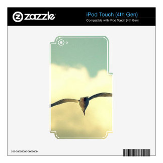 A SEAGULL FLYING IN THE SKY DECAL FOR iPod TOUCH 4G