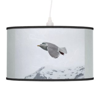 A Seagull Looking for Food x 3 Hanging Lamp