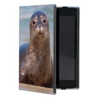 A seal on a beach along the Pacific Coast iPad Mini Cover