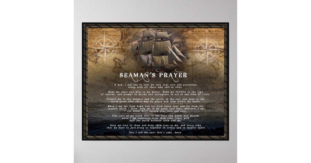 a seaman u0026 39 s prayer poster