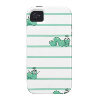 A seamless design with worms iPhone 4 cases