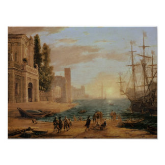 A Seaport, 1639 Poster