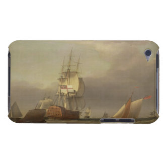 A Seascape with Men-of-War and Small Craft (oil on Case-Mate iPod Touch Case