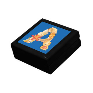 'A' seashell monogram Jewelry Boxes