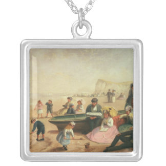A Seaside Scene Silver Plated Necklace