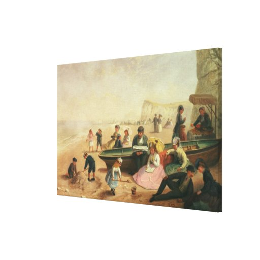 A Seaside Scene Stretched Canvas Prints