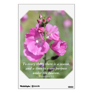 A Season and Time Hollyhock Wall Decal