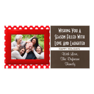 A Season Of Love & Laughter Christmas Card