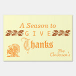 A season to give thanks yard sign