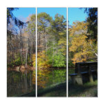 A Seat with an Autumn View Triptych