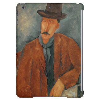 A seated man leaning on a table iPad air covers