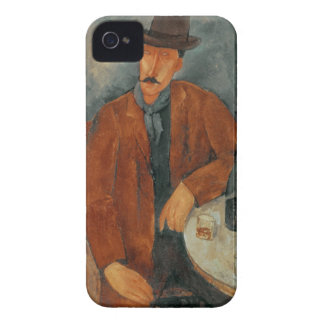 A seated man leaning on a table iPhone 4 Case-Mate case