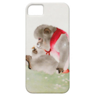 A Seated Monkey Observing An Insect iPhone 5 Cover
