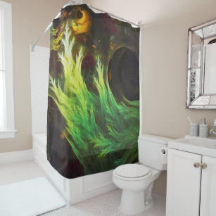 A Seaweeds DeepDream Of Faded Fractal Fall Colors Shower Curtain
