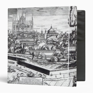 A Section of a Map of Milan, 1640 Binder