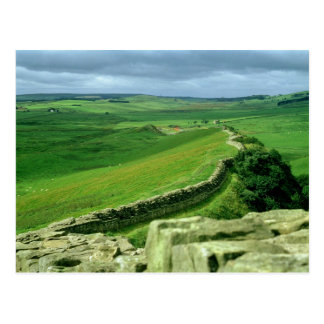 A section of Hadrian's Wall, 2nd century AD (stone Postcard